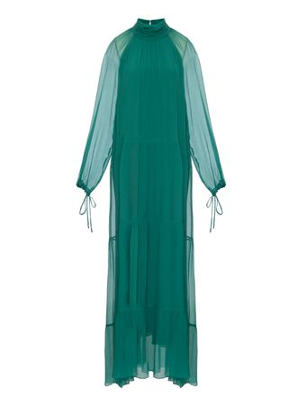 Vestido-Chiffon-Verde