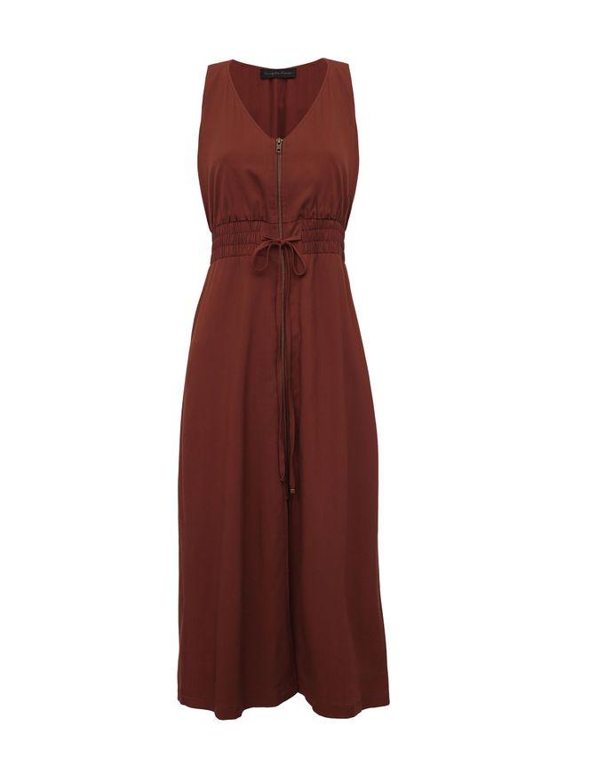 Vestido-Comfy-Ziper-Marrom