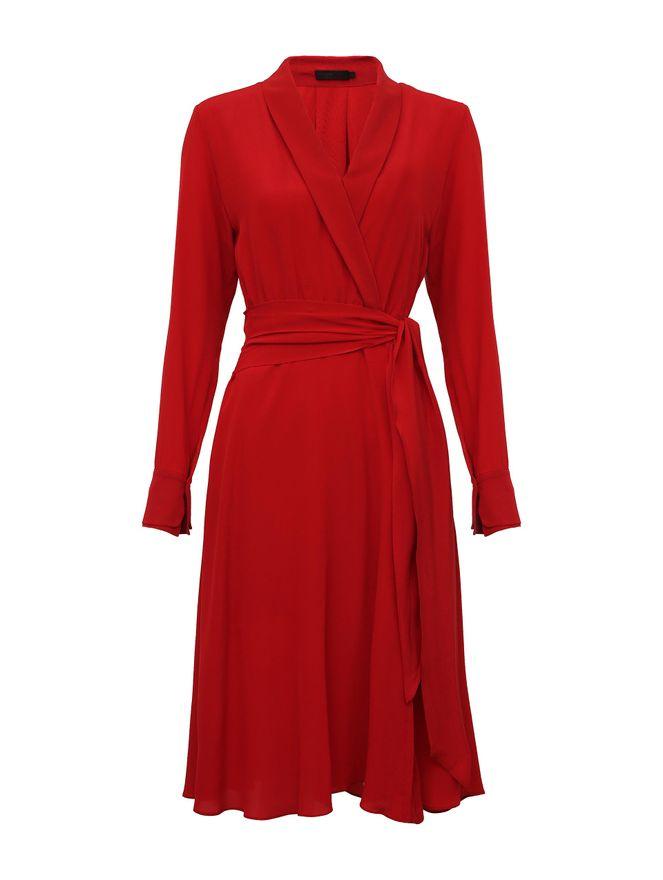 Vestido-Seda-Vermelho