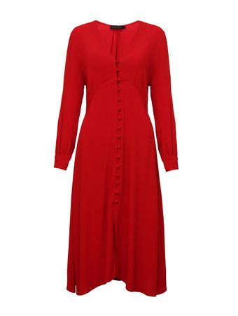 Vestido-Botoes-Vermelho