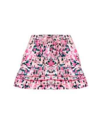 SAIA-PEACH-COTTON-POPLIN-SHORT-SKIRT-PEACH