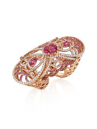 Anel-Duplo-Safiras-e-Diamantes-de-Ouro-Rose
