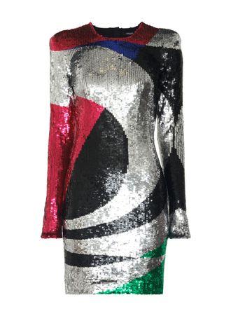 Vestido-Manga-Longa-Metalizado