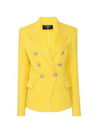 Blazer-de-Algodao-Amarelo
