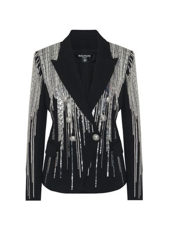 BLAZER-6-BTN-SEQUIN-EMBROIDERED-JACKET-0PA-BLACK