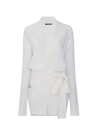 CARDIGAN-CASHMERE-BLEND-TRANSPARENT-LOGO-0FA-WHITE