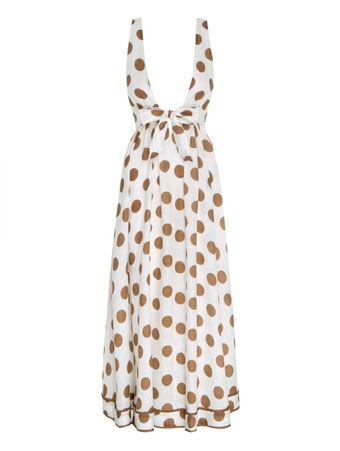 VESTIDO-EMPIRE-TIE-FRONT-LONG-DRESS-TAN-DOT