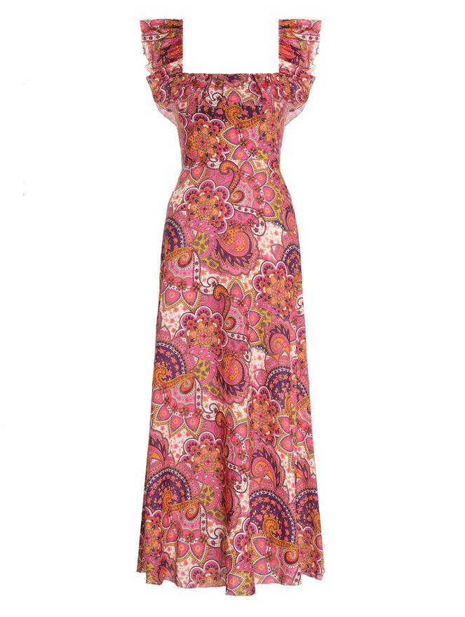 VESTIDO-FIESTA-RUFFLE-NECK-LONG-DRESS-PINK-PAISLEY