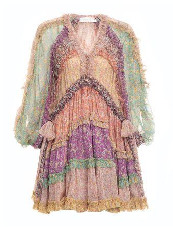 VESTIDO-CARNABY-FRILL-BILLOW-DRESS-SPLICED