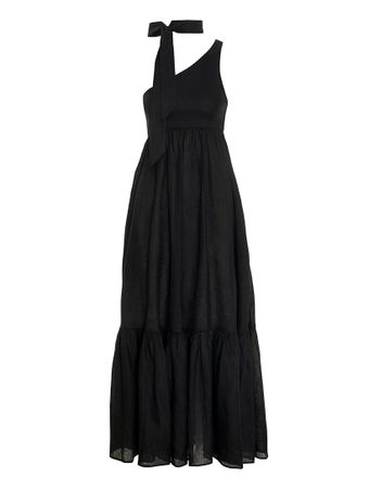VESTIDO-EMPIRE-TIE-NECK-DRESS-BLACK