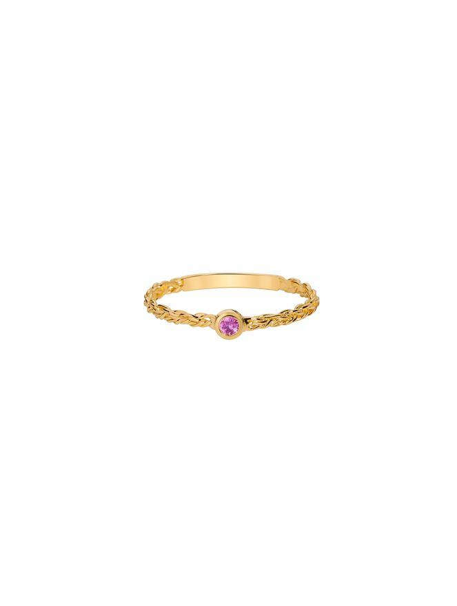 Anel-Buleria-Solitario-de-Ouro-com-Safira-Rosa
