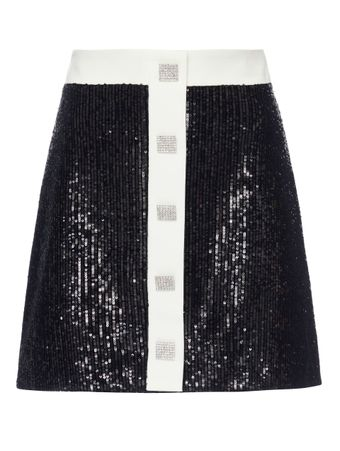 SAIA-CURTA--WOVEN-WOMAN-BLACK-SKIRT-BLACK